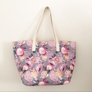 Handbags - Floral Tote Bag Large Pastel Pink